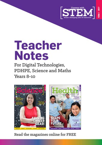 Careers with STEM Teacher Notes by Refraction Media - issuu