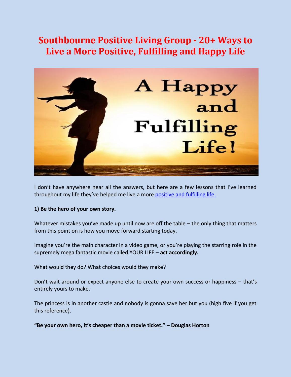 southbourne positive living group 20 ways to live a more positive