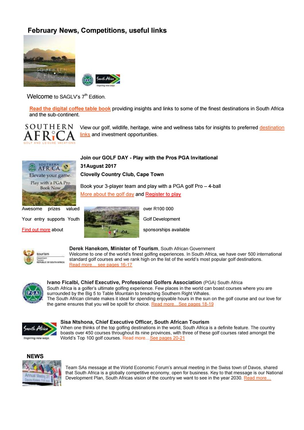 saglv sa golf and leisure vacations february 2017 news by stefan