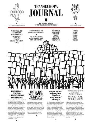1bd8aeb0bd Transeuropa Journal 2012 by European Alternatives - issuu