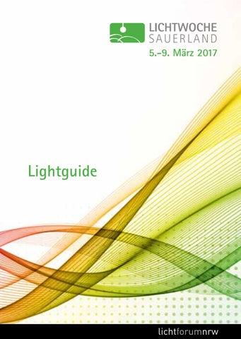 Lichtwoche Sauerland 2017 Lightguide By Lichtforum Nrw Issuu
