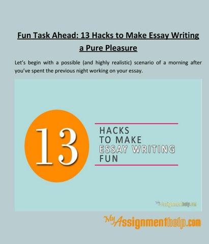 making essay writing fun