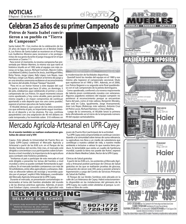 Peri Dico El Regional Edici N 908 By Peri Dico El Regional De  # Ahorro Muebles Cayey