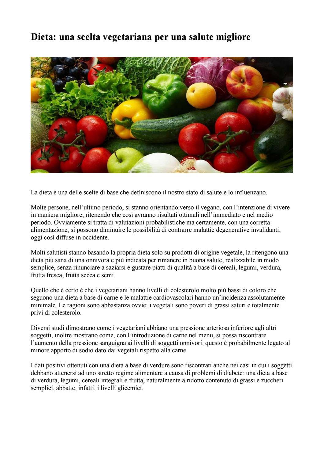 come è la dieta vegetariana