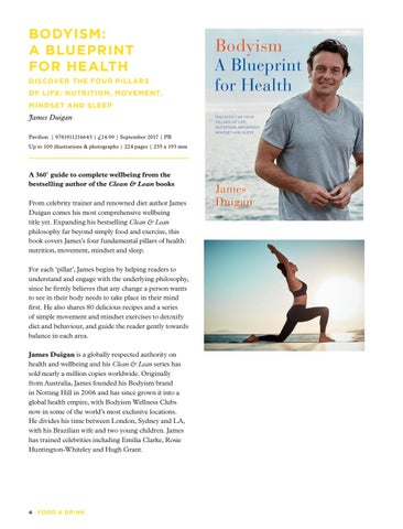 Food and drink july december 2017 by pavilion books issuu bodyism a blueprint for health discover the four pill ars of life nutrition movement mindset and sleep malvernweather Images