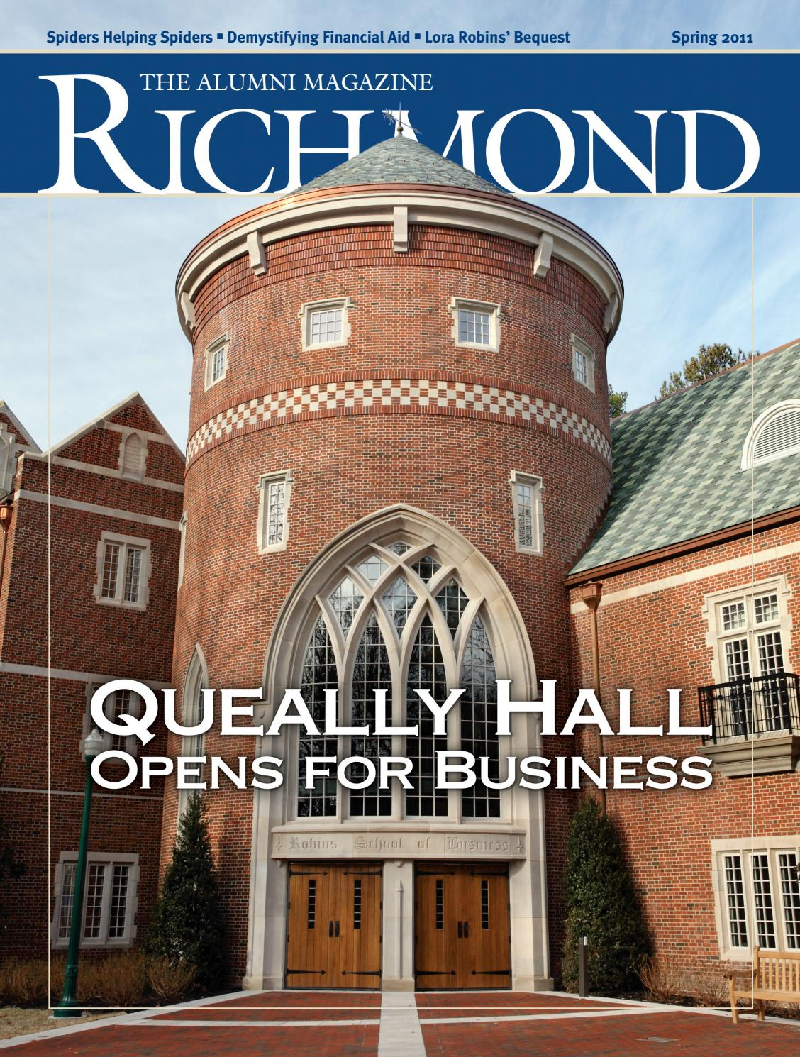 University of Richmond Magazine Spring 2011 by UR Scholarship ...