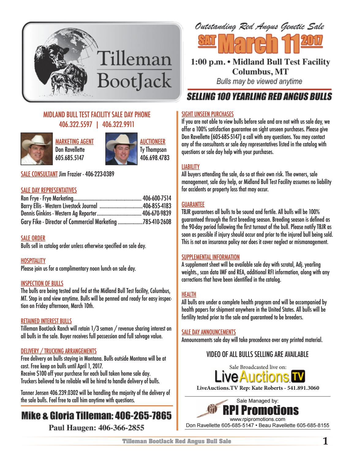 Tilleman bootjack back cover by RPI Promotions - issuu