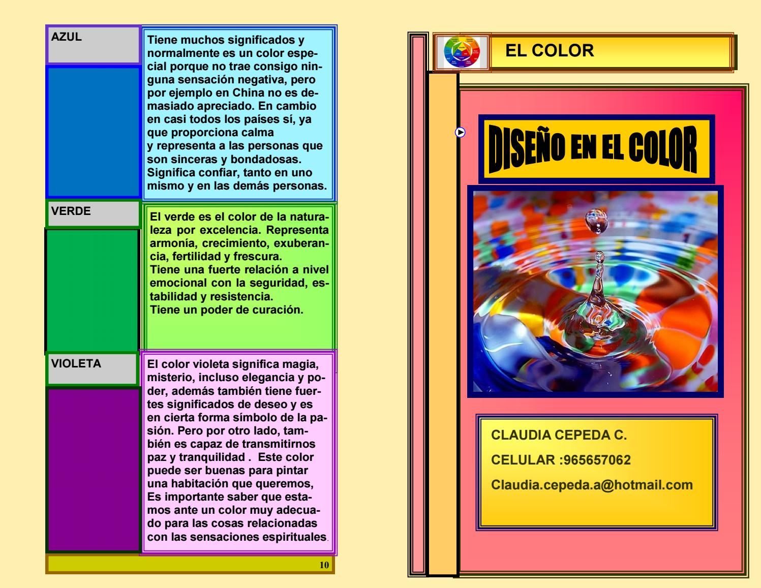 Catalogo del color by Claudia Cepeda - issuu