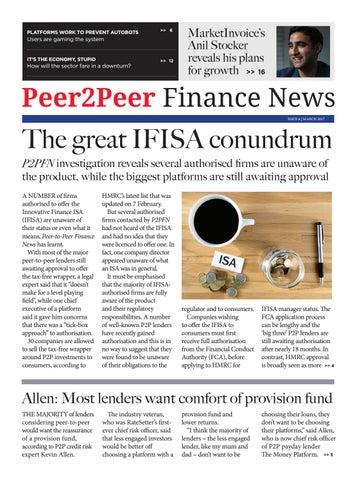 Peer2Peer Finance News March 2017 by Peer2Peer Finance News