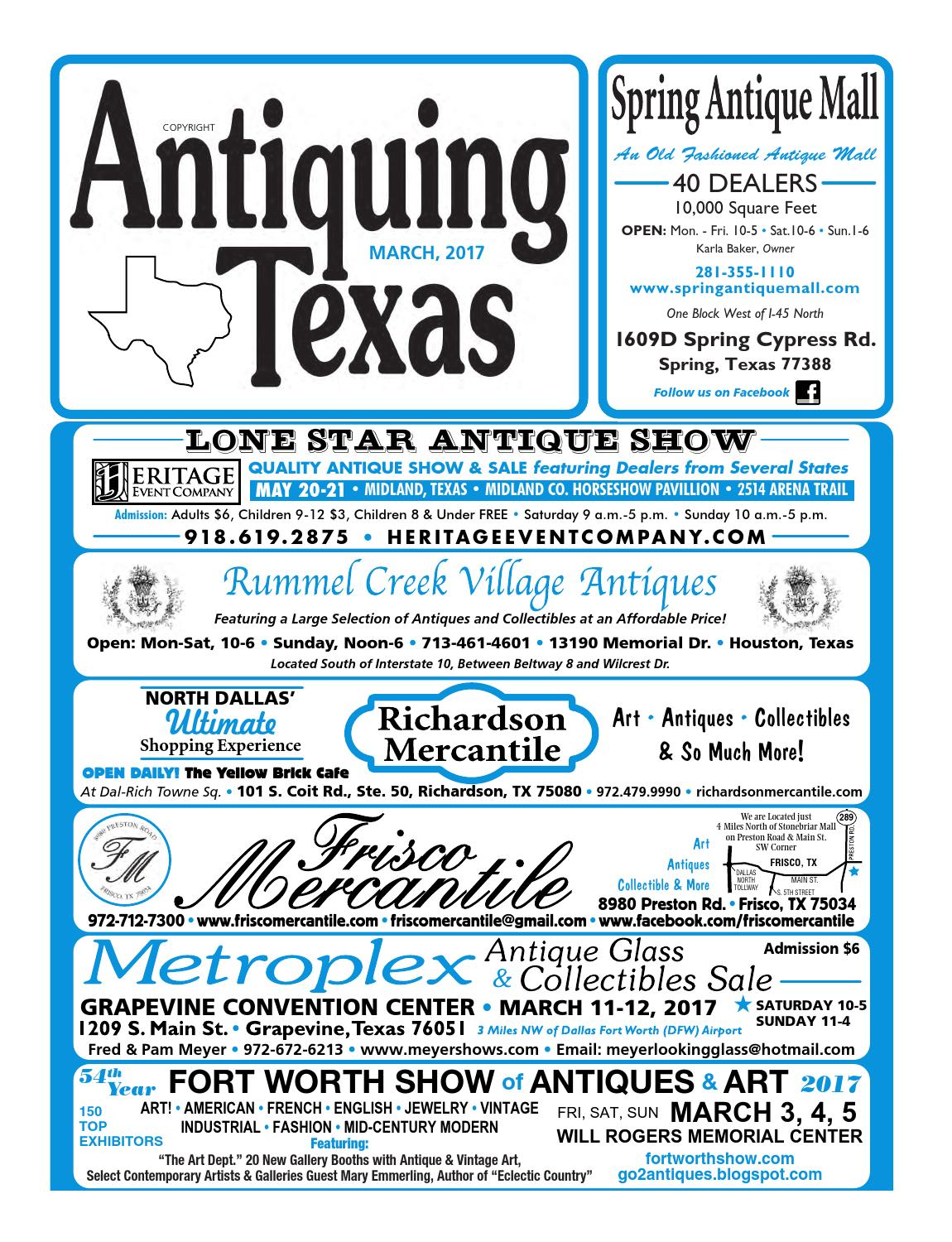 Ant tx upload 3 17 by Antiquing Texas - issuu