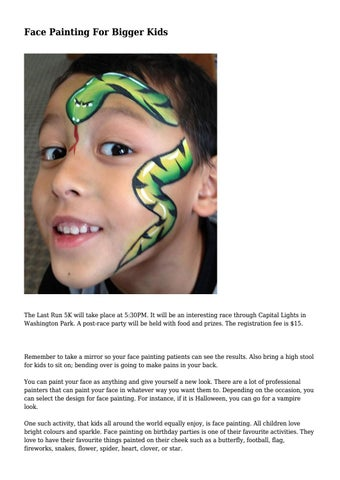 Face painting for bigger kids by ugliestrecord4999 issuu page 1 face painting solutioingenieria Choice Image