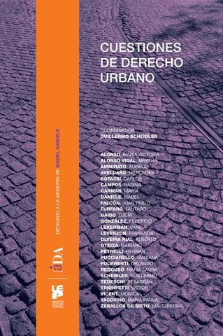 Cuestiones De Derecho Urbano By Da Asociacin De Derecho