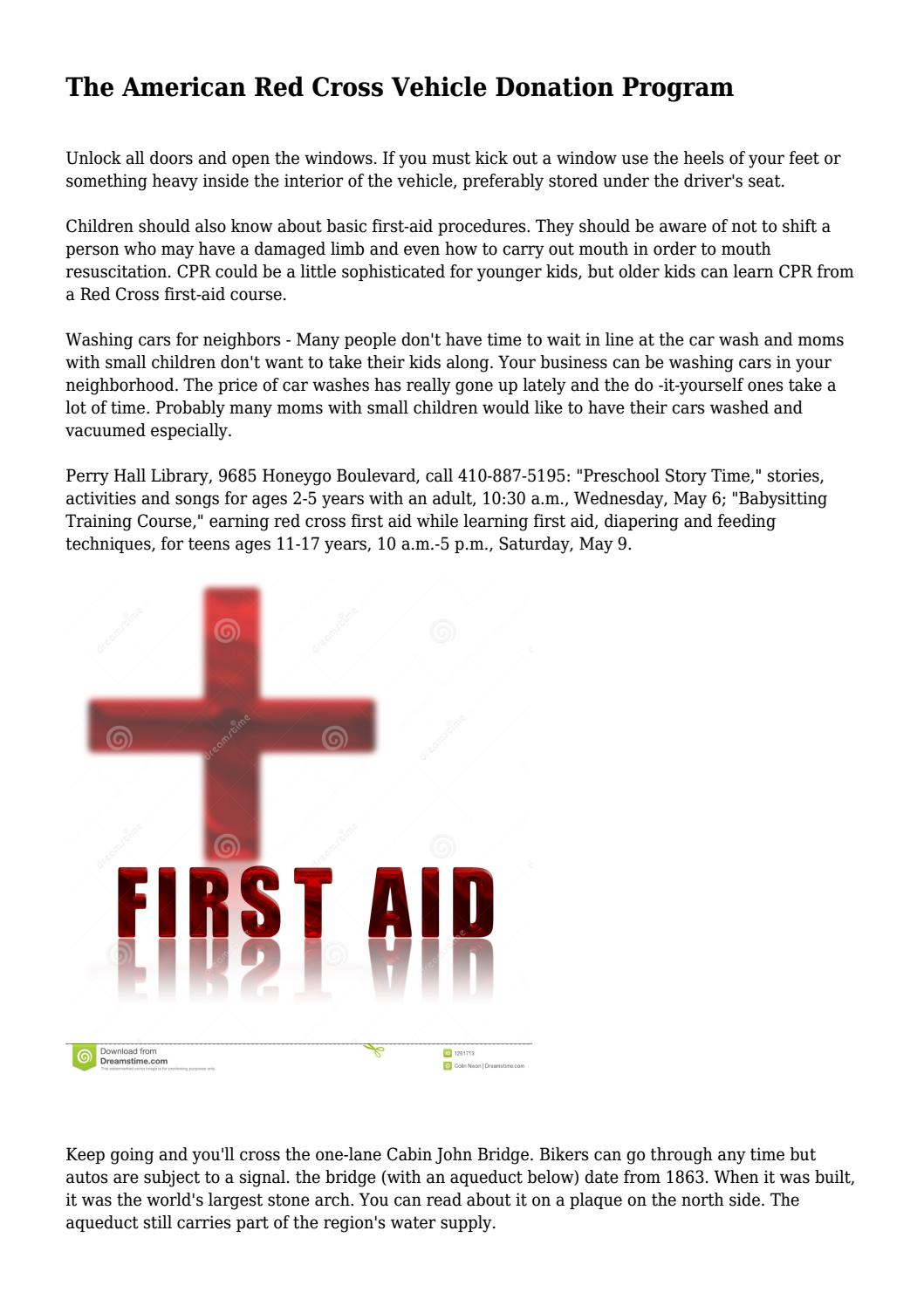 The American Red Cross Vehicle Donation Program By