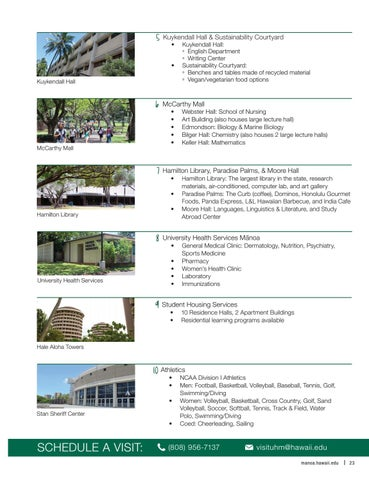 UH Manoa Visitors Guide 2016 2017 By Office Of Admissions ...