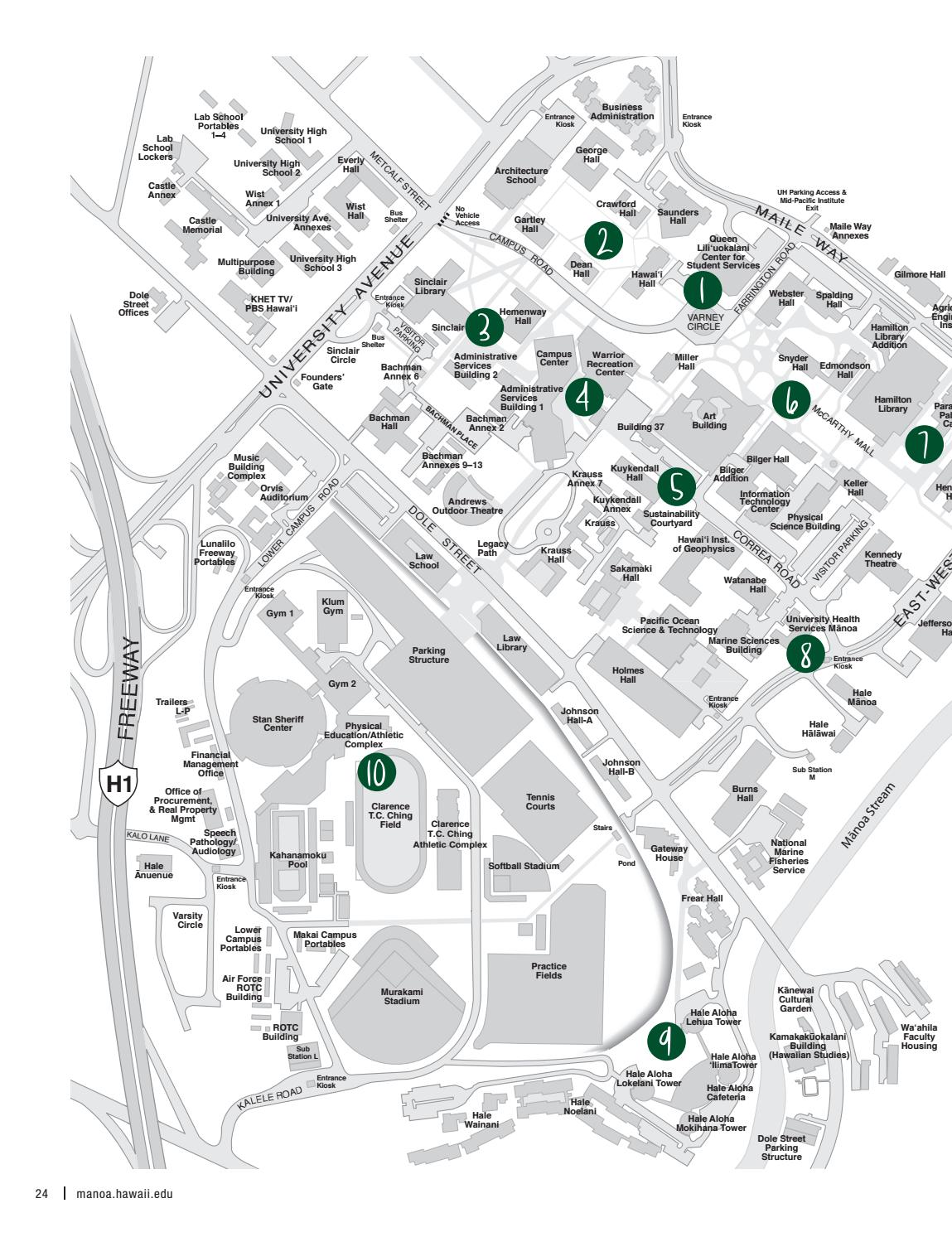 UH Manoa Visitors Guide 2016-2017 by Office of Admissions ...
