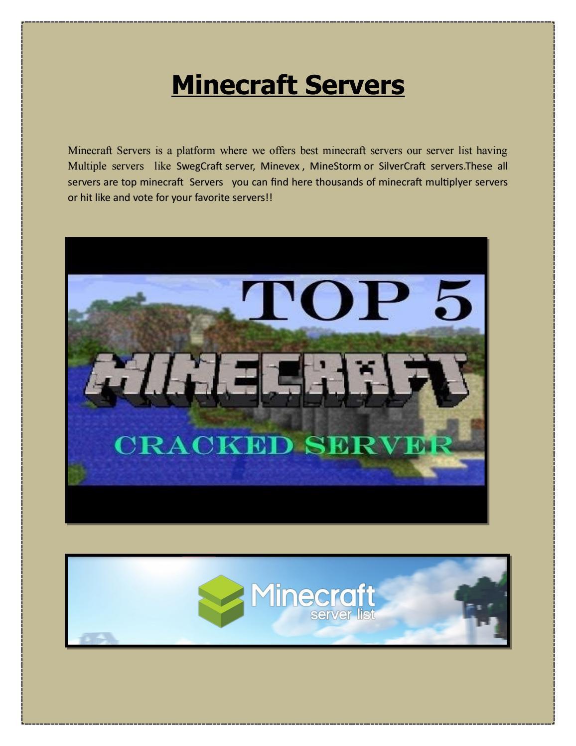 Minecraft Games Server by Minecarftservers - issuu