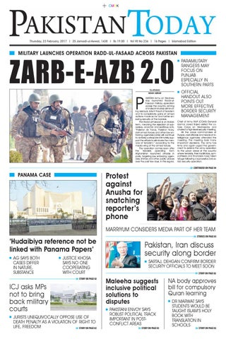 E paper pdf (23 02 2017) isb by Pakistan Today - issuu