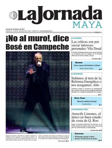 9d91abf2be8c8 La Jornada Maya · Jueves 23 de febrero