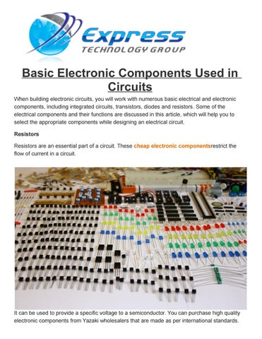 Basic Electronic Components Used in Circuits by Express-technology ...