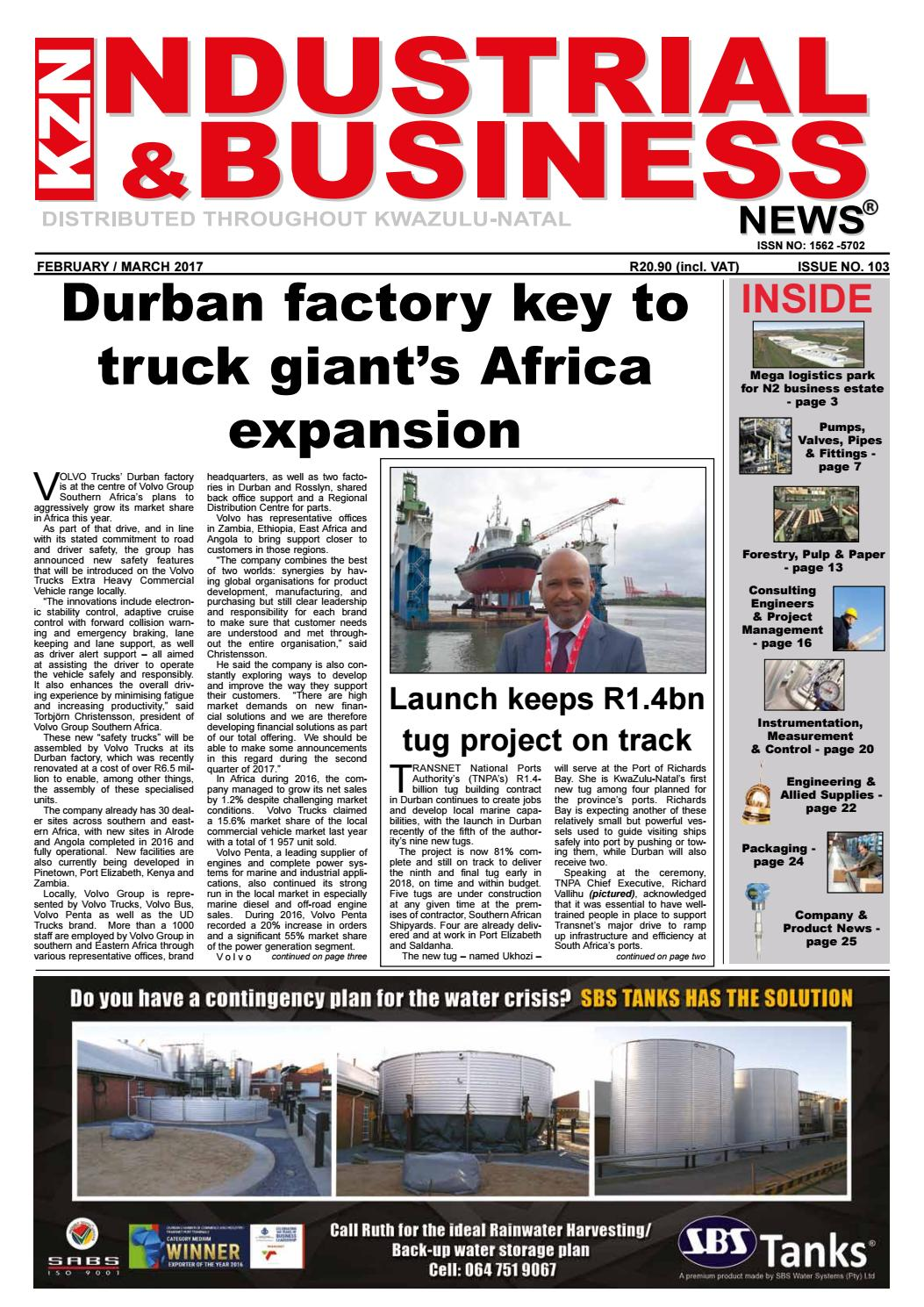 Kzn Industrial Business News Issue 103 Feb Mar 2017 By The Media Circuit Breakers Witbank O Olxcoza Events Company Issuu