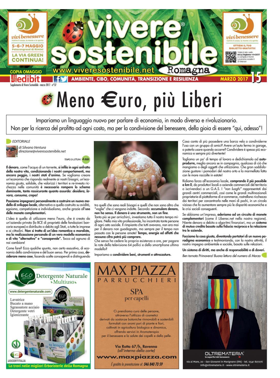 Vivere Sostenibile In Romagna N 15 Marzo 2017 By