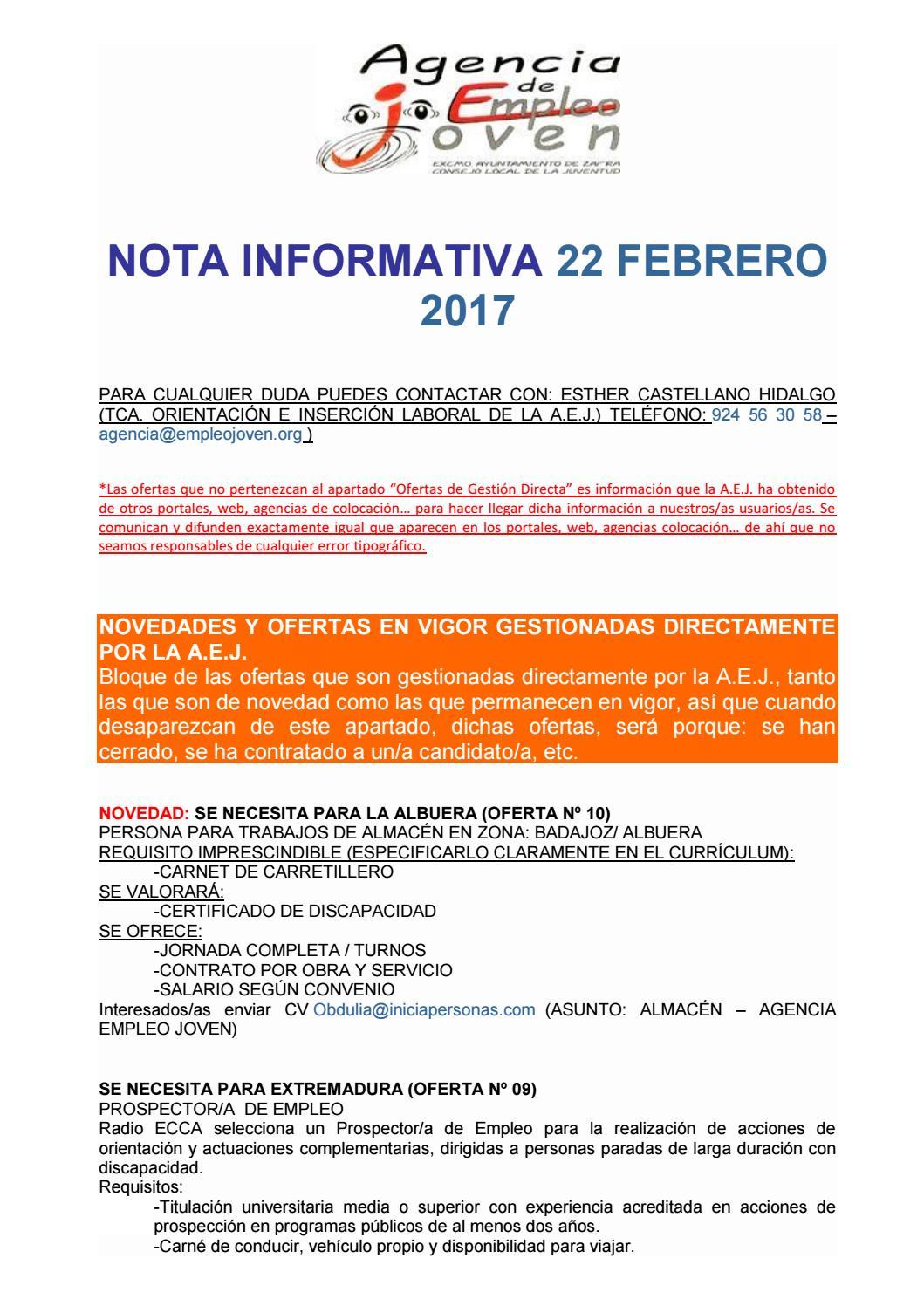 Nota informativa 22 de febrero de 2017 by Segura Al Día - issuu