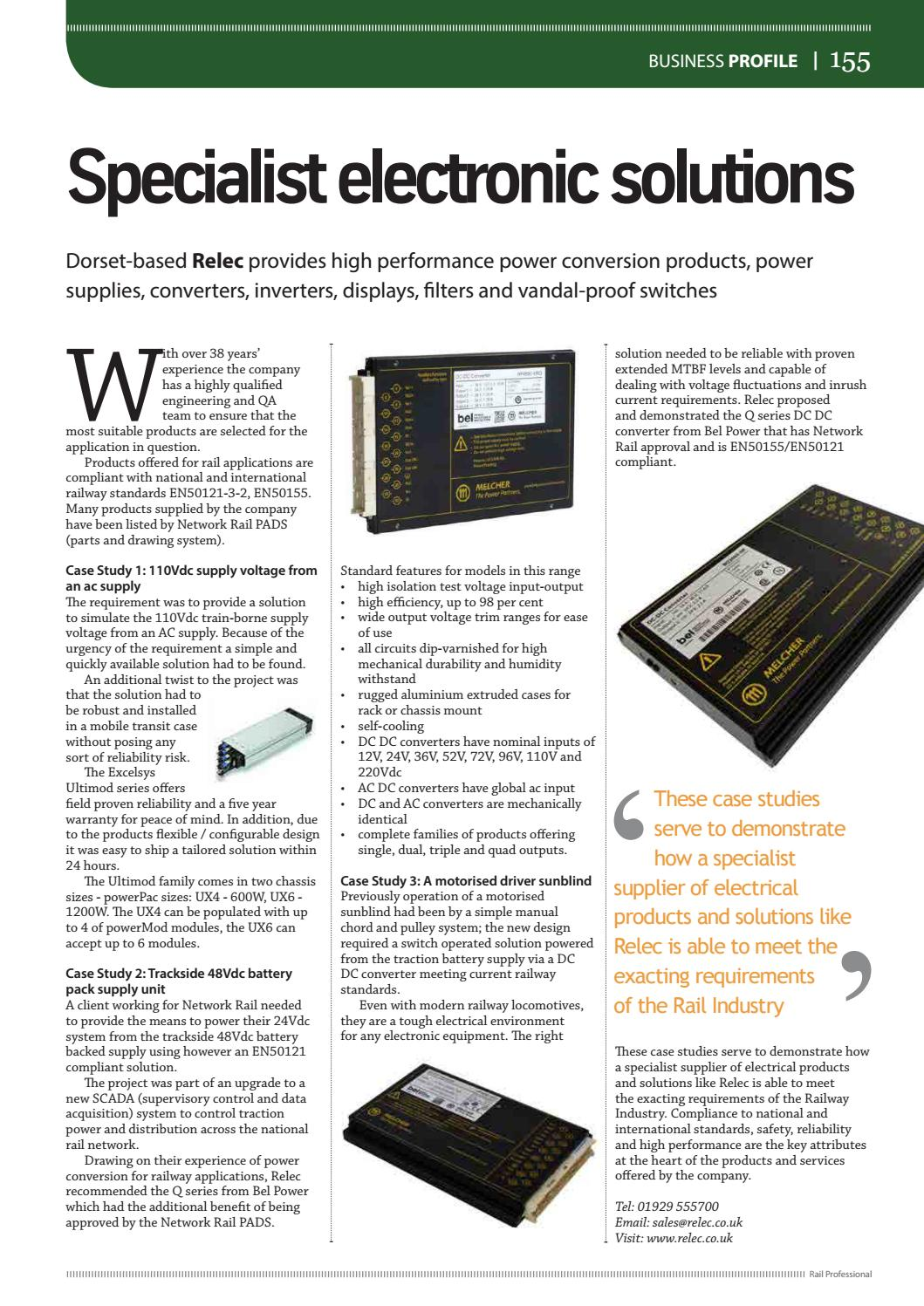 Rail Professional March 2017 By Magazine Issuu Electrical Drawing Approval