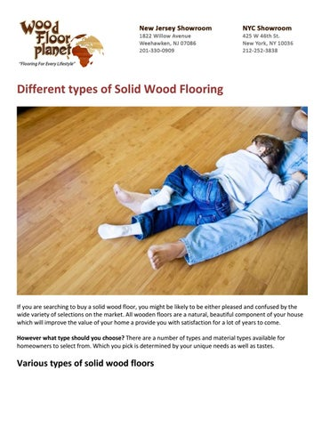 Different Types Of Solid Wood Flooring By Guest1237 Issuu