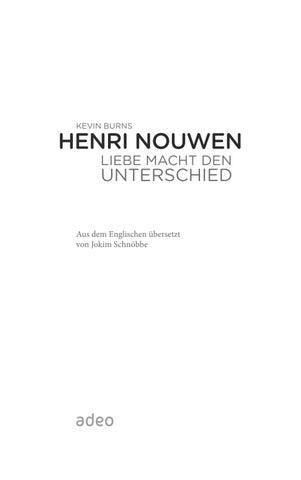 Liebe macht den Unterschied - Henri Nouwen - 9783863341367 by Gerth ...