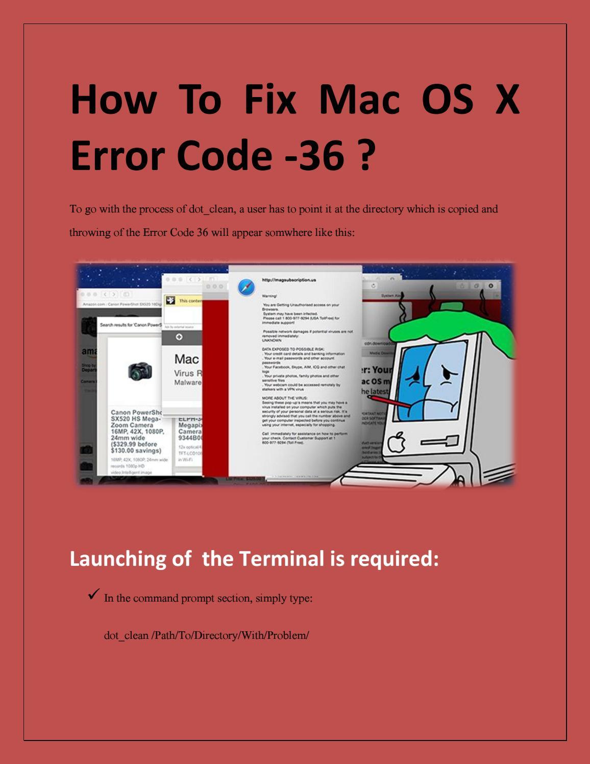 How to fix Mac OS X Error Code -36 ? by alexisblackwell - issuu