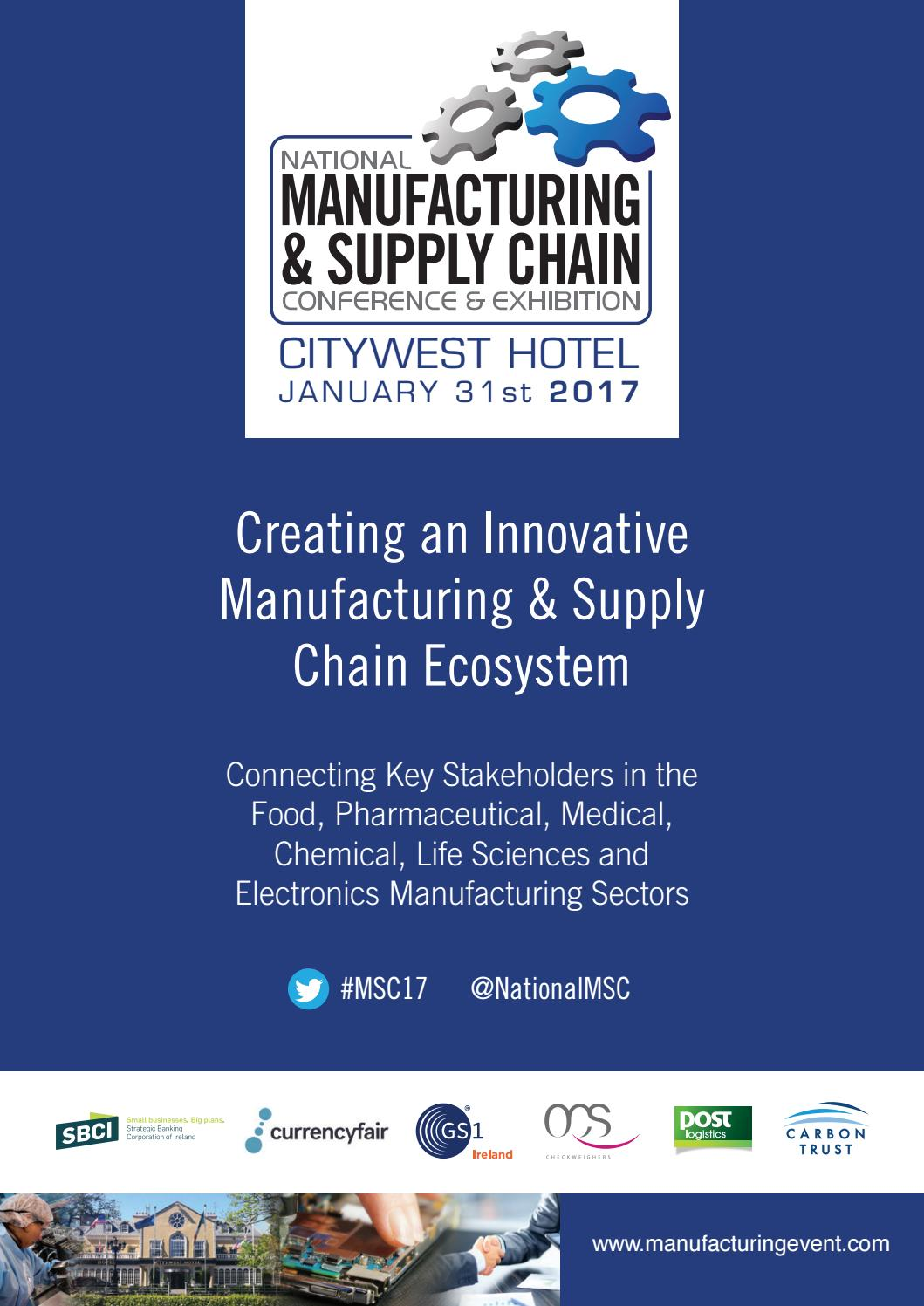 Manufacturing & supply chain 21 brochure by Colin Murphy   issuu