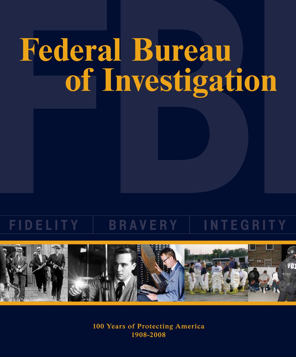federal bureau of investigation 100 years of protecting. Black Bedroom Furniture Sets. Home Design Ideas