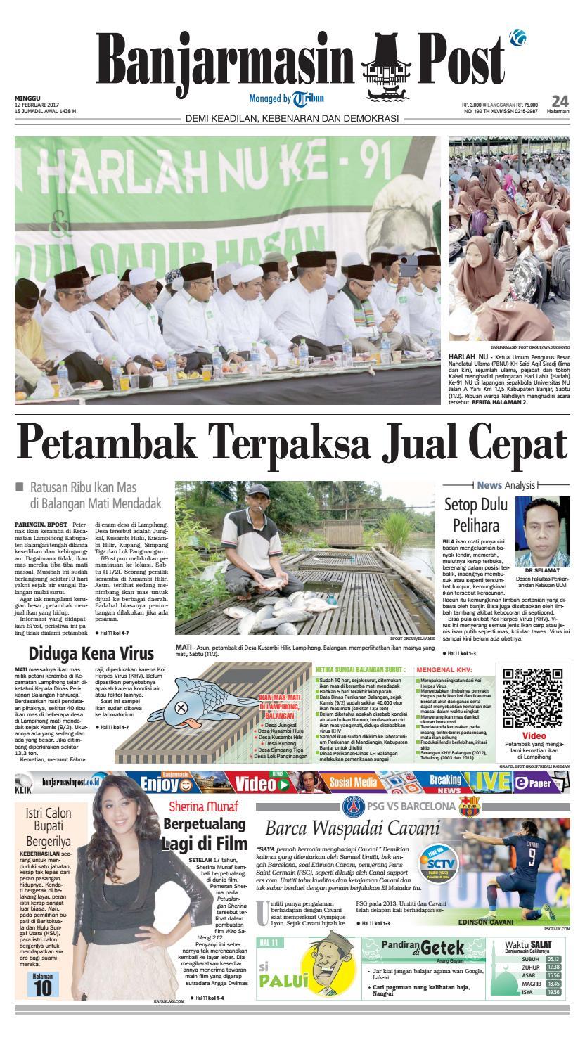 Bp20170212 By Banjarmasin Post Issuu Bedak Dingin Pupur Bangkal Masker Cap Galuh Banjar Asli Kalimantan Selatan