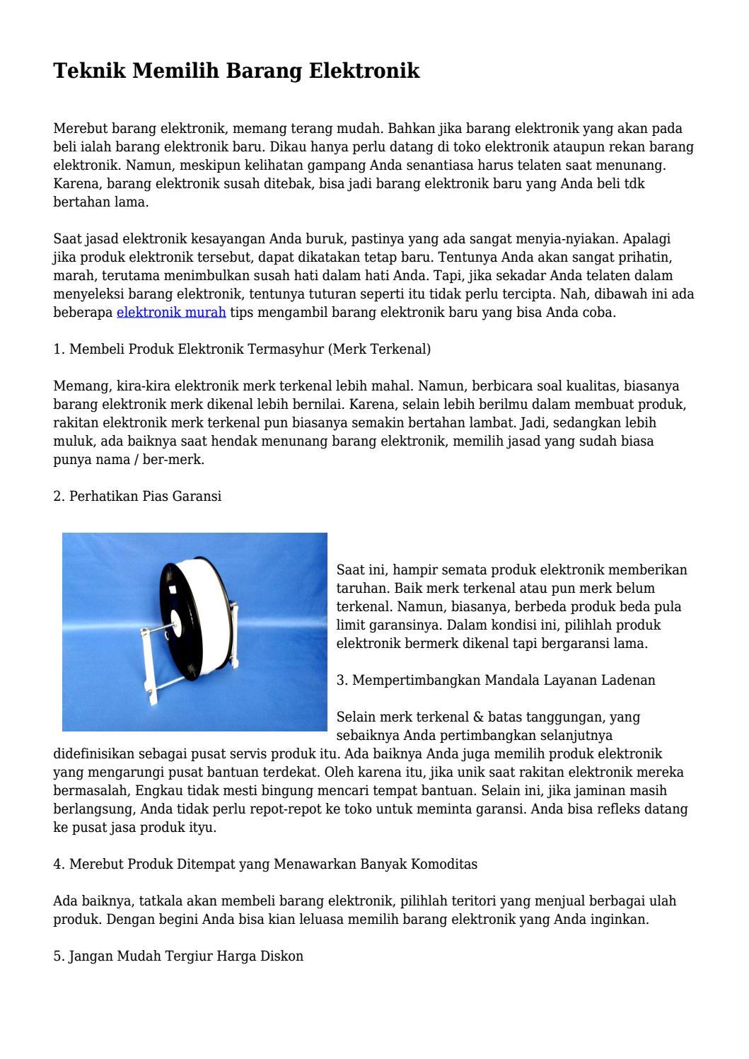 Teknik Memilih Barang Elektronik... by buzzgayahidupdeal - issuu 77a09cf454