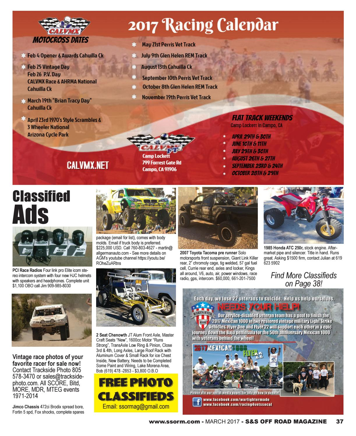 S&S Off Road Magazine March 2017 by S&S Off Road Magazine