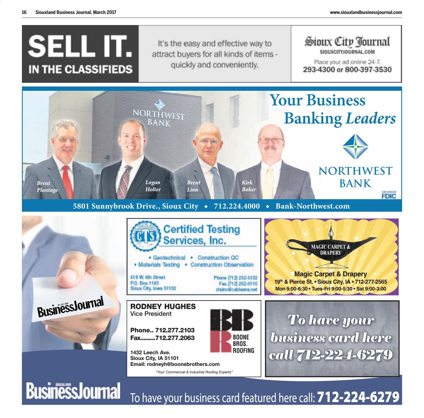 Siouxland Business Journal March 2017 By Sioux City