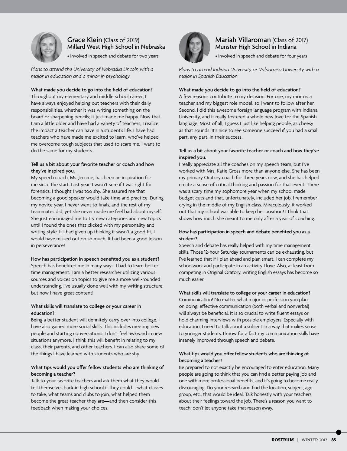 2017 Winter Rostrum by Speech & Debate - issuu