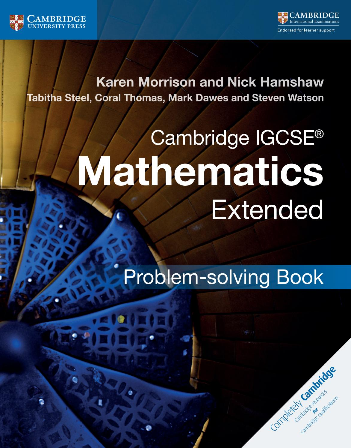 Preview Cambridge IGCSE Mathematics Extended Problem-solving Book by  Cambridge University Press Education - issuu