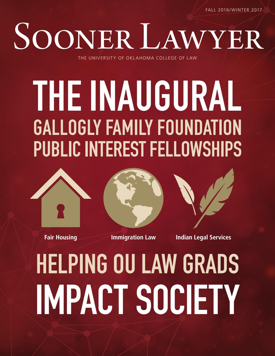 Sooner Lawyer: Fall 2016winter 2017 By University Of Oklahoma College Of  Law  Issuu