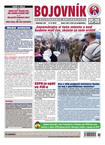 Bojovník č. 25-26 2016 by Slovenský zväz protifašistických ... c741b95fd60