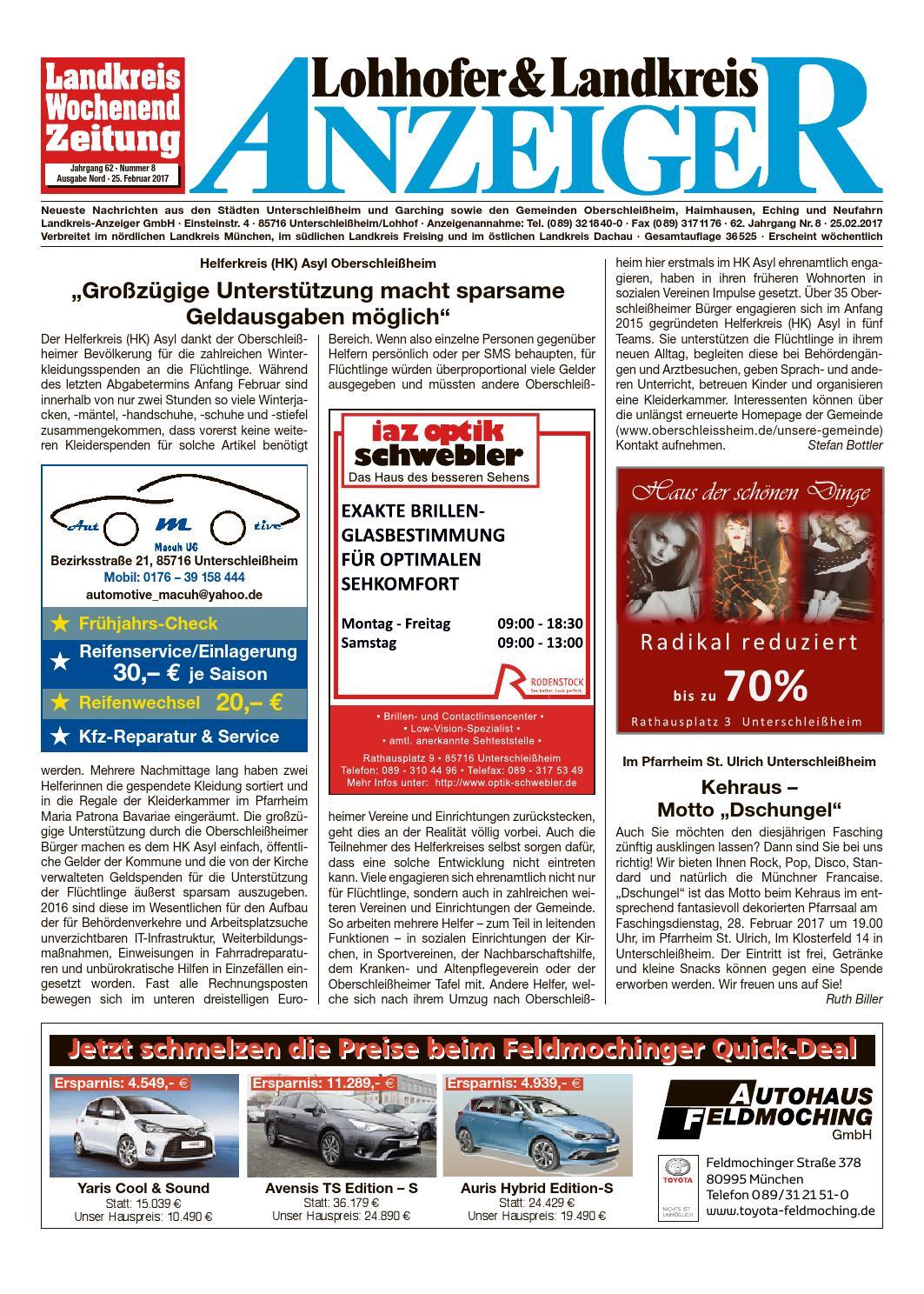 Lohhofer & Landkreis Anzeiger 0817 by Zimmermann GmbH Druck & Verlag - issuu