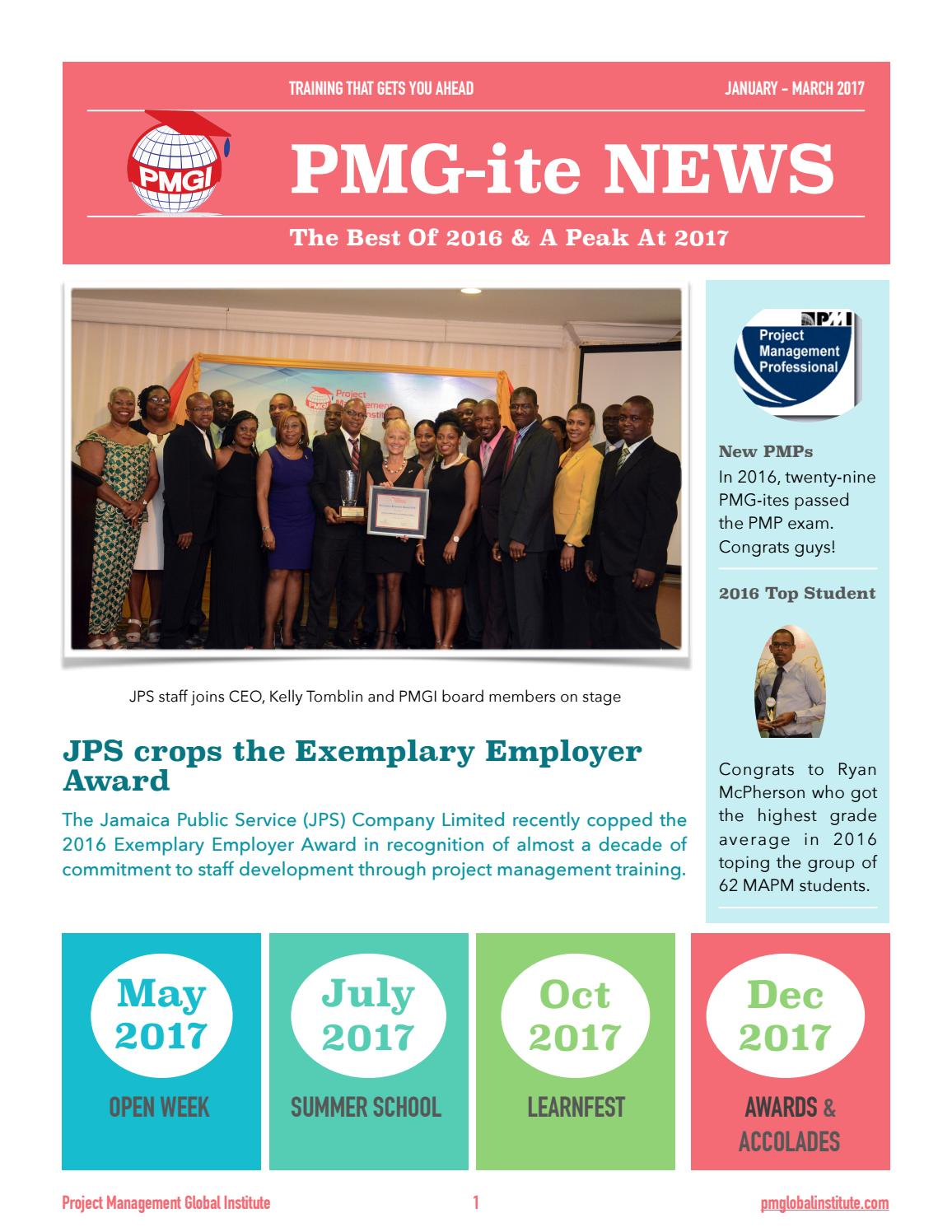 Pmgi Newsletter Quarter 1 2017 By Pmgi Project Management Global