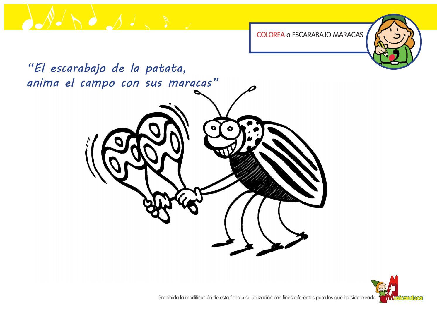 Escarabajo maracas colorea by Macarena Torres Salinas - issuu