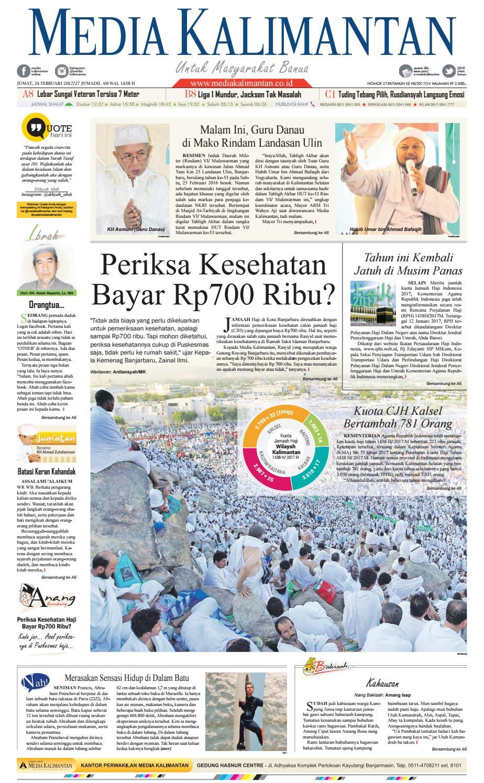 MEDIA KALIMANTAN JUMAT 24 FEBRUARI 2017 By Media Kalimantan
