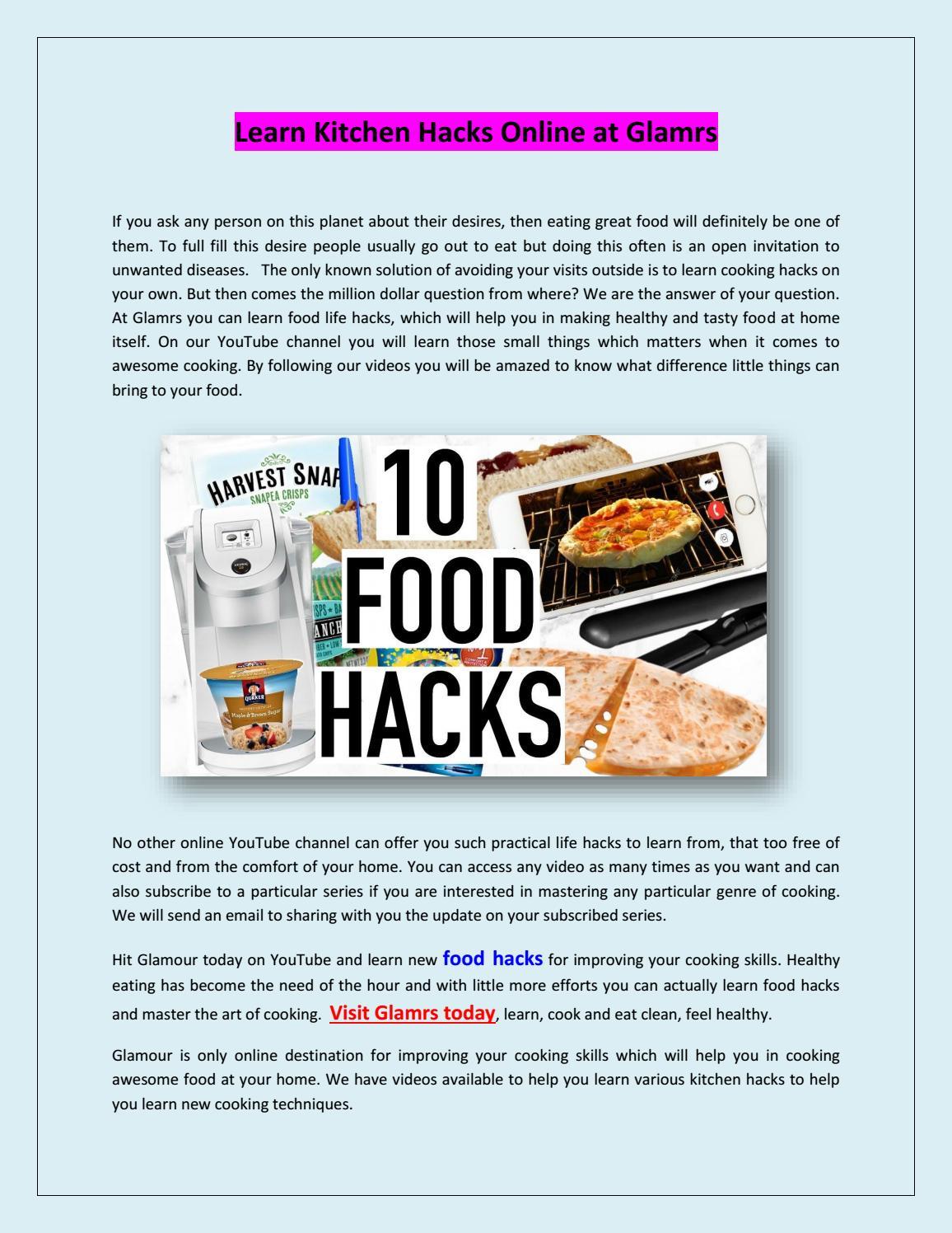 Learn kitchen hacks online at glamrs by shyam mishra - issuu