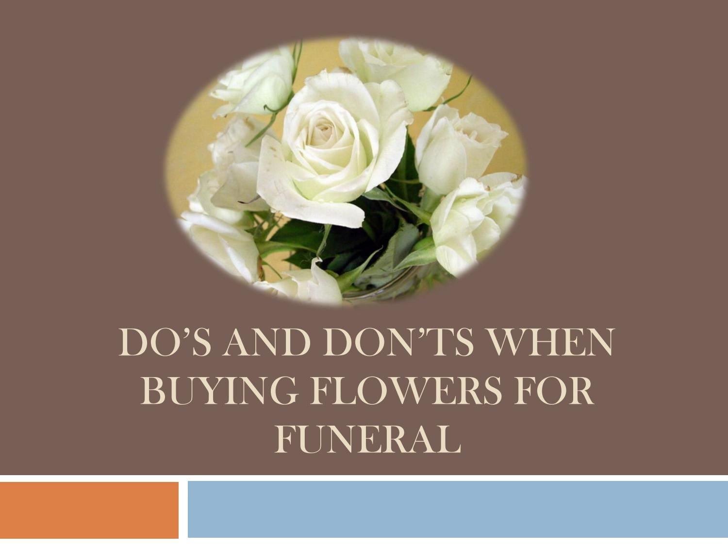 Dos And Donts When Buying Flowers For Funeral By Funeral Flowers