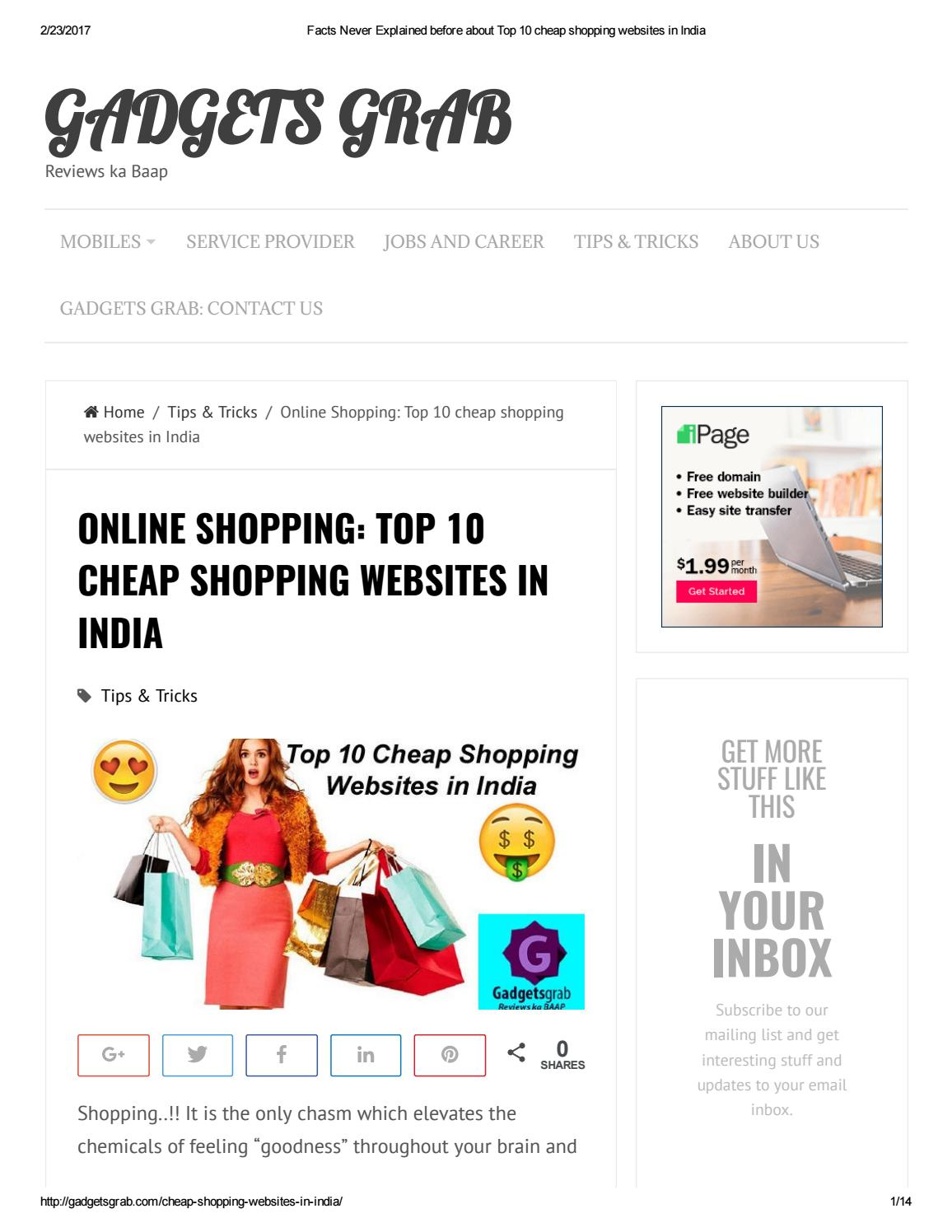 Facts never explained before about top 10 cheap shopping for The best cheap online shopping sites