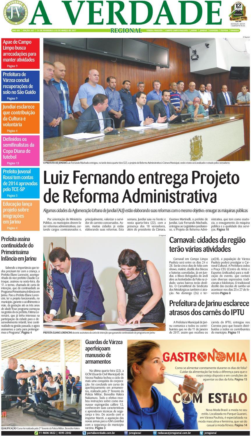 JV Regional ® Edição 667 by Jornal A Verdade Regional - issuu c100d28e3b7