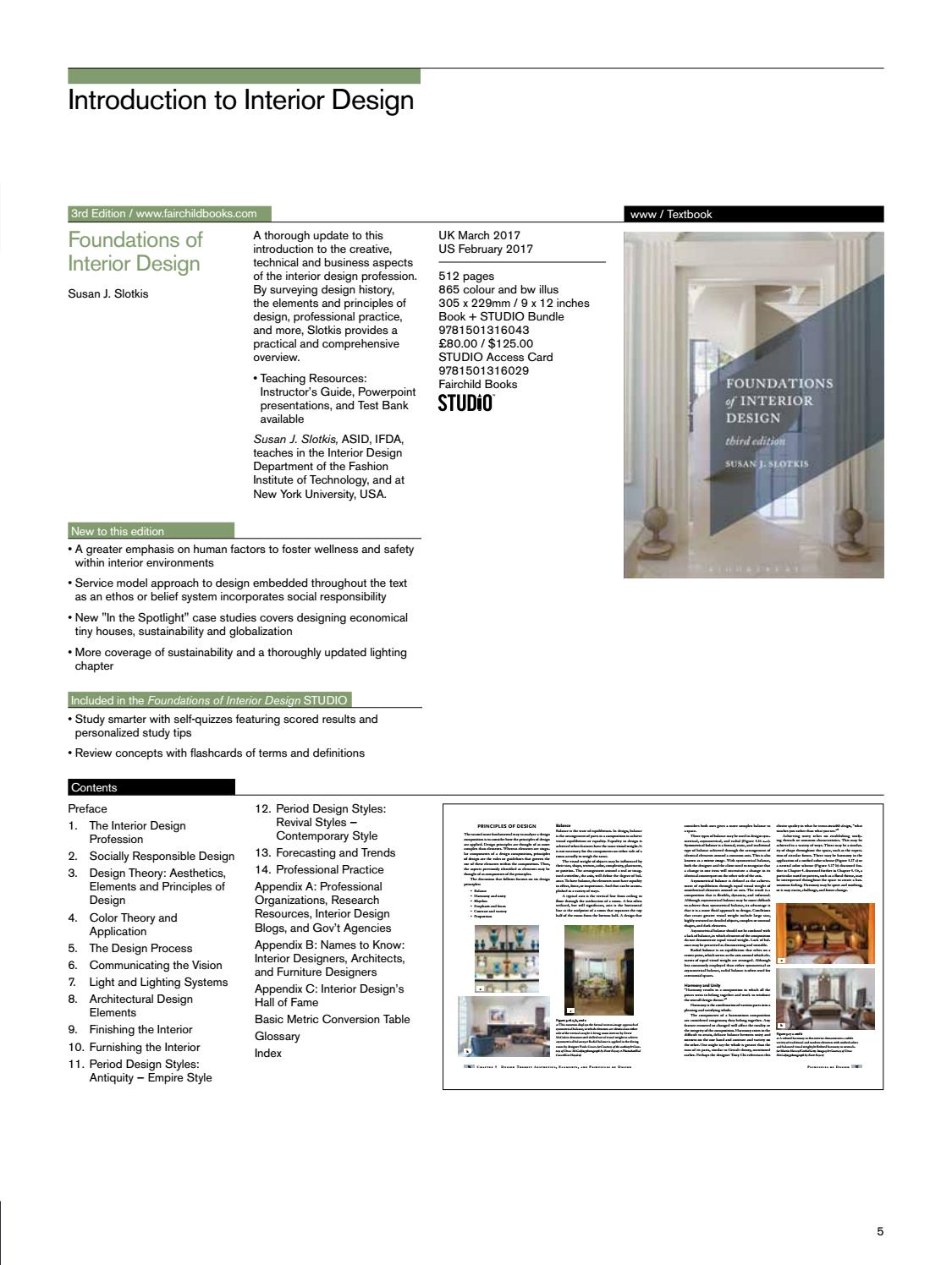 Interior Design And Architecture 2017 Catalogue By Bloomsbury Publishing Issuu