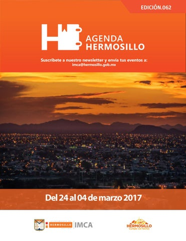 "Cover of ""Agenda Hermosillo 24 feb 2017"""